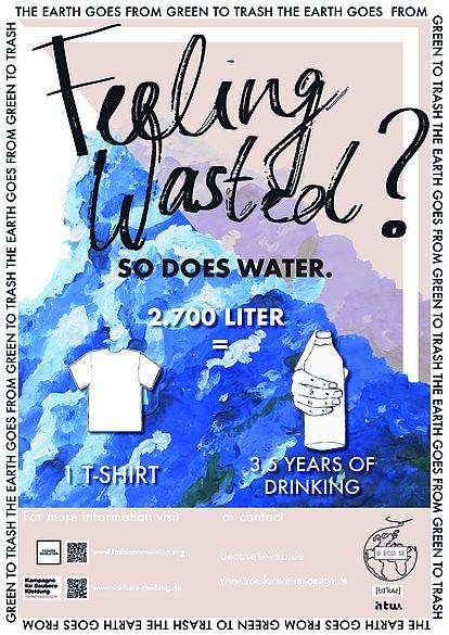 Poster zum Wasserverbrauch