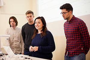 Studierende bei einem Vortrag