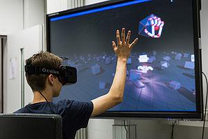 Junge mit VR-Brille